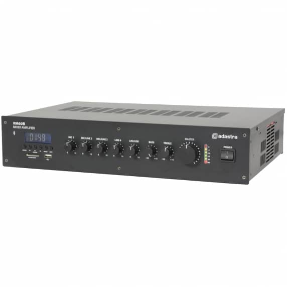 RM60B 5 channel 100V Mixer Amp with Bluetooth