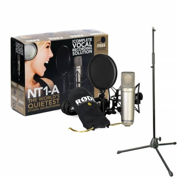 Rode NT1-A Vocal Recording Pack with Mic Stand Bundle