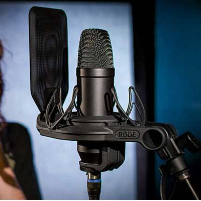 Rode Nt1 Kit Condenser Microphone Shockmount And Popshield