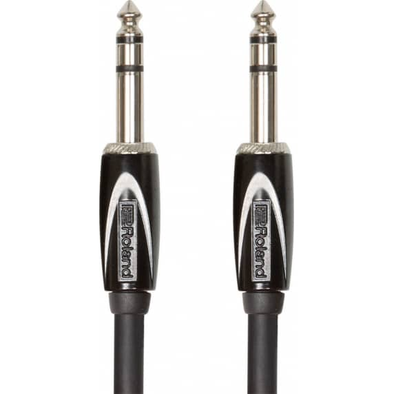 "Roland 3FT / 1M Interconnect Cable, 1/4"" TRS-1/4"" TRS, Balanced"
