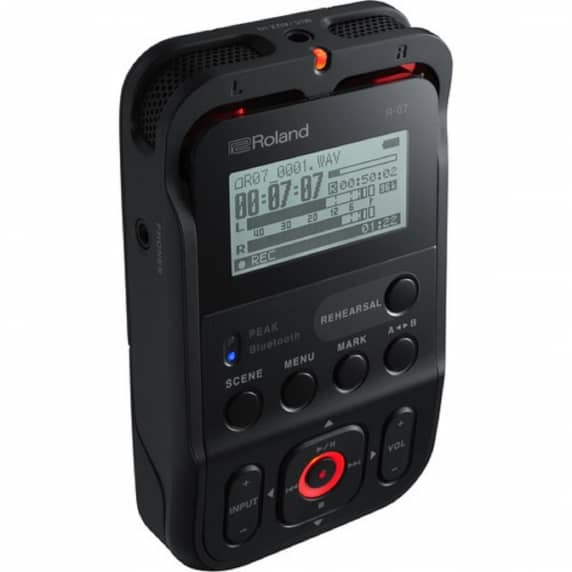 Roland R-07 Portable Audio Recorder Black