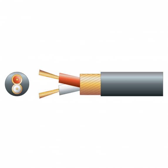 Round 2-Core Overall Lap Screen Cable, 4mm, 100m - Black