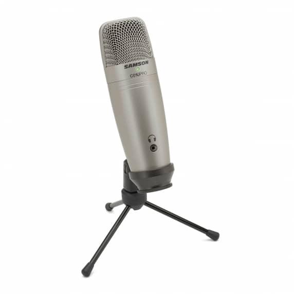 Samson C01U Pro USB Microphone with Headphone Amp (CO1u)
