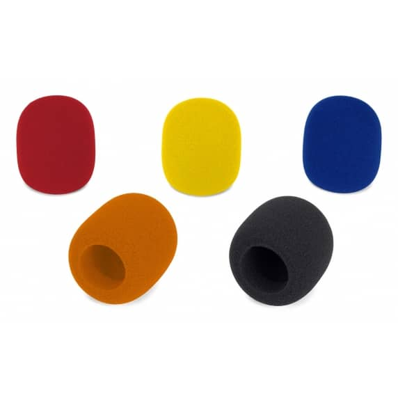 Samson WS1C Foam Microphone Windscreens - Coloured (Pack of 5)