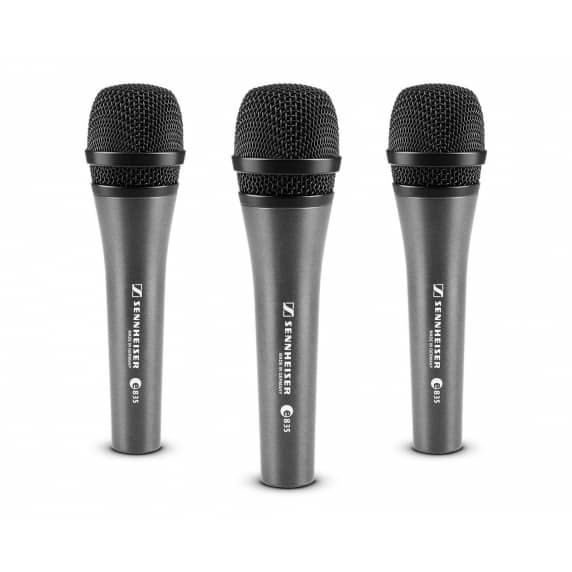 Sennheiser E835 3-PACK Cardioid Dynamic Reduced Proximity Microphone
