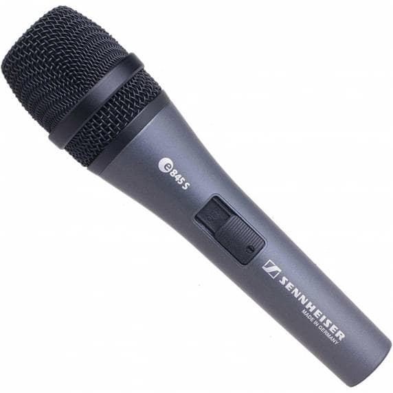 Sennheiser E845S Supercardioid Dynamic Mic with Switch