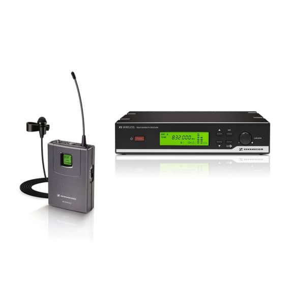 Sennheiser XSW12 Wireless Tie Clip / Lapel Mic System - CH38