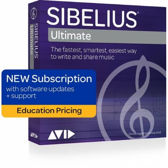 Sibelius Ultimate 2019.1 Annual Licence Education (Boxed)