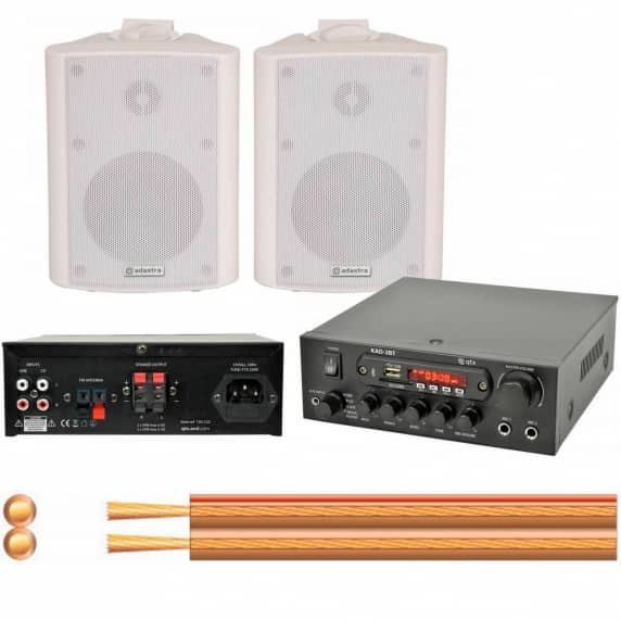 Small Office Music System with Bluetooth, USB and SD Player