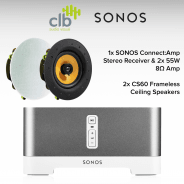 Sonos Connect Amp Home Hi-Fi Sound System - 2x Ceiling Speakers