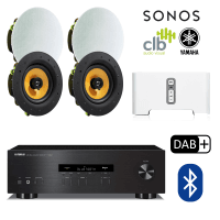 Inta Audio Sonos Connect & Yamaha Home Hi-Fi Sound System - 4x Ceiling Speakers