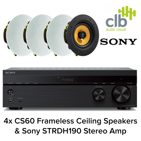 Sony Home Hi-Fi Sound System with Bluetooth - 4x Ceiling Speakers
