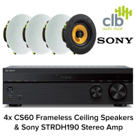 Inta Audio Sony Home Hi-Fi Sound System with Bluetooth - 4x Ceiling Speakers