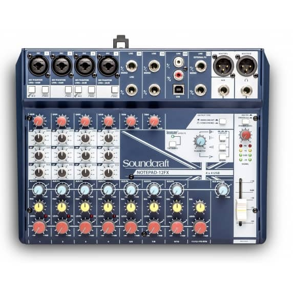 Soundcraft Notepad-12FX Analogue Mixer