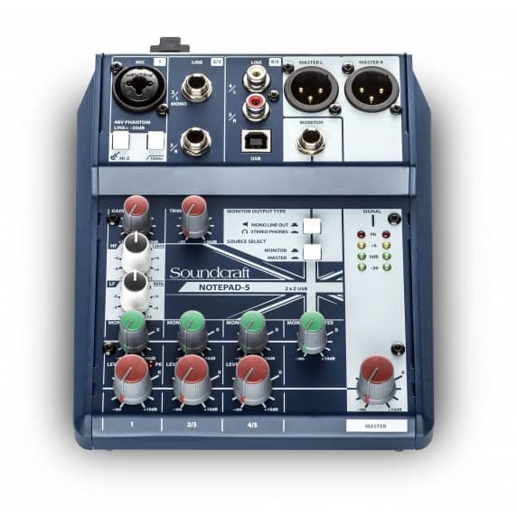 Soundcraft Notepad-5 Analogue Mixer