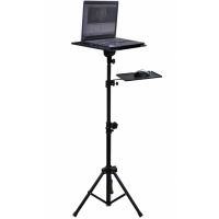 Soundlab Adjustable Tripod Laptop Stand With Mouse Shelf