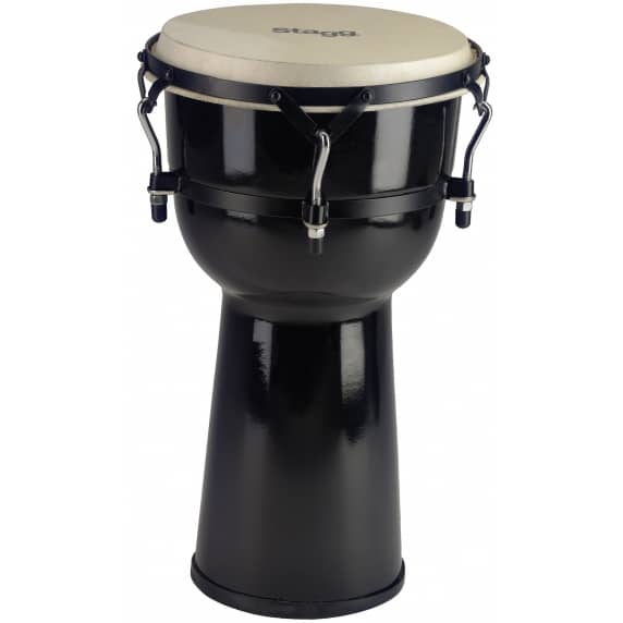"Stagg 10"" Fibre Glass Black Djembe"