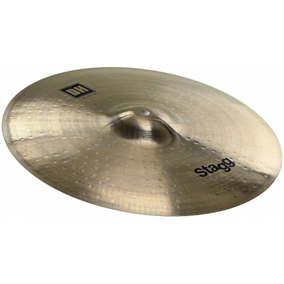 "Stagg 18"" Medium Dual Hammered Crash Cymbal"
