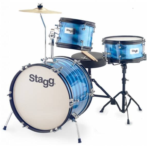 Stagg 3-Piece Junior Drum Kit with Hardware - Blue