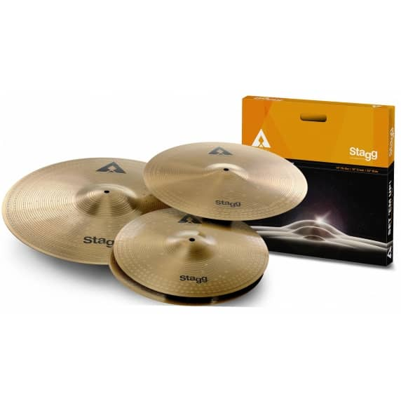 "Stagg AXK Cymbal Set (14""hh, 16""Crash and 20"" ride)"