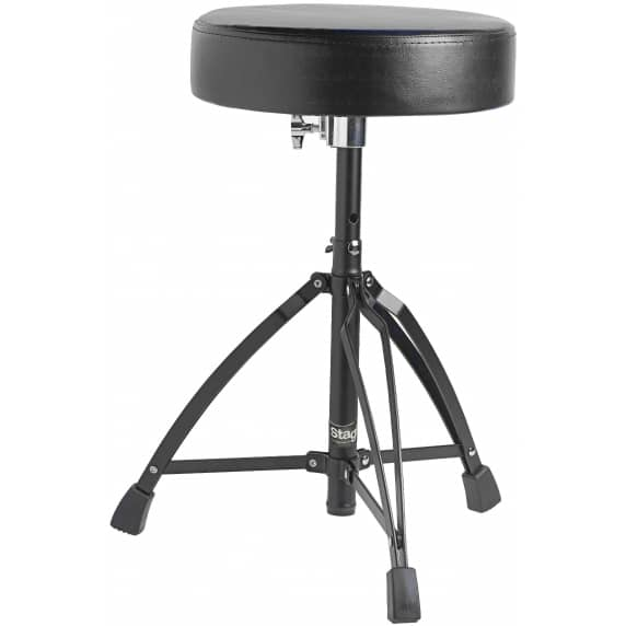 Stagg DT-32BK Double Braced Drum Stool (Black)