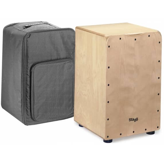 Stagg Medium Natural Cajon with Carry Bag