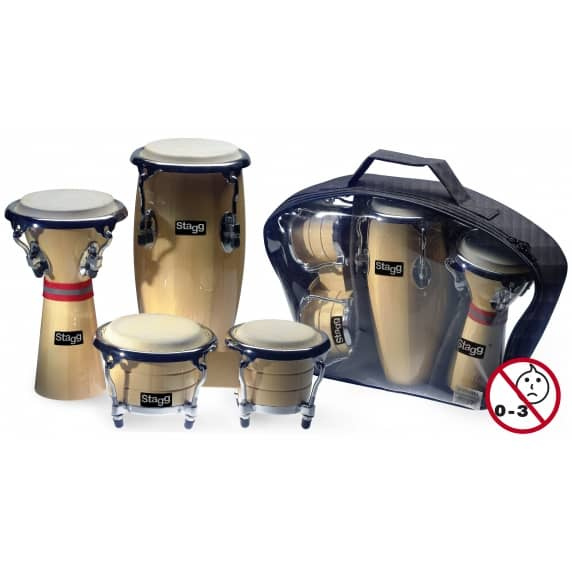 Stagg Mini Percussion set (Mini Bongo, Conga & Djembe)