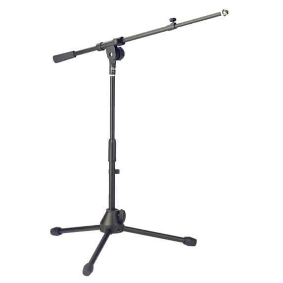 Stagg MIS-2004BK Low Profile Telescopic Microphone Boom Stand