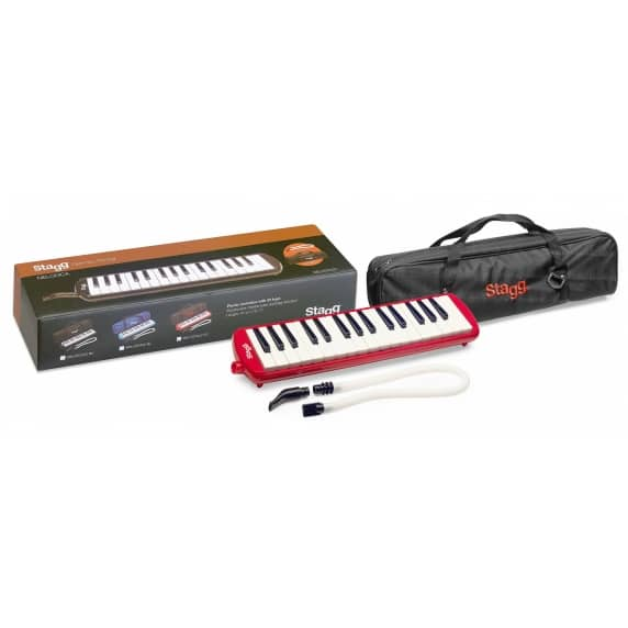 Stagg Red 32 Key Melodica with carry bag