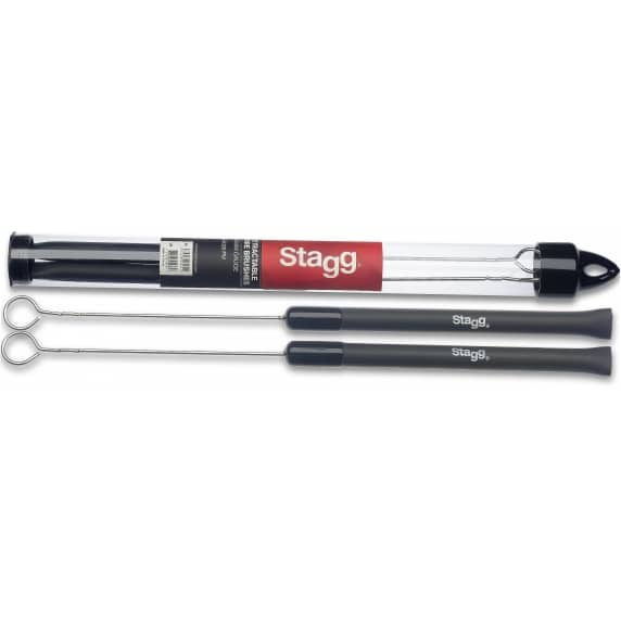 Stagg SBRU20-RM Telescopic Brushes - Rubber Handles