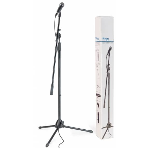 Stagg SDM50 Dynamic Microphone Set (with Stand, Cable and Clamp)