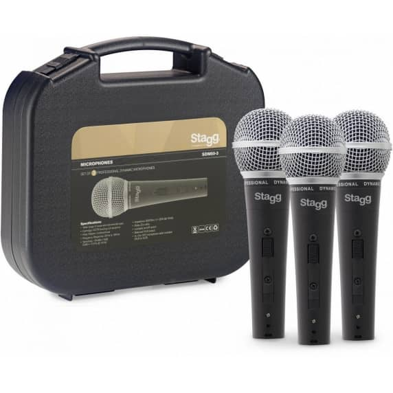 Stagg SDM50 XLR Dynamic Mic (with DC78 Cartridge) - PACK OF 3