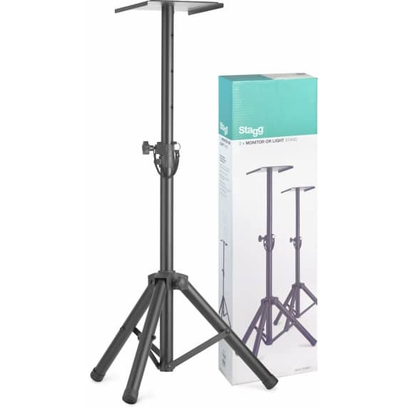 STAGG SMOS-20 Height-Adjustable Studio Monitor / Speaker Stands (Pair)