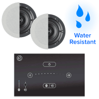 Systemline E50 Bluetooth Bathroom Music System + Waterproof Ceiling Speakers