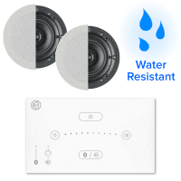 Systemline E50 (WH) Bluetooth Bathroom Music System + Waterproof Ceiling Speakers