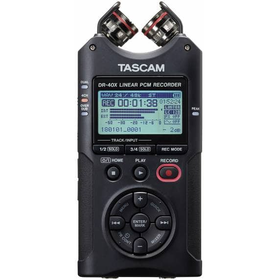 Tascam DR-40X Portable Recorder & USB Interface