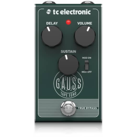 TC Electronic Gauss Super-Saturated Tape Echo Pedal - B Stock