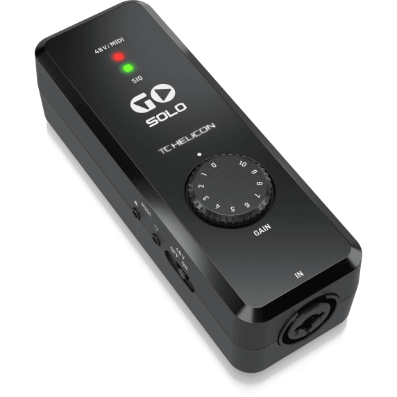 TC Helicon Go Solo High-Definition Audio/MIDI Interface for Mobile Devices