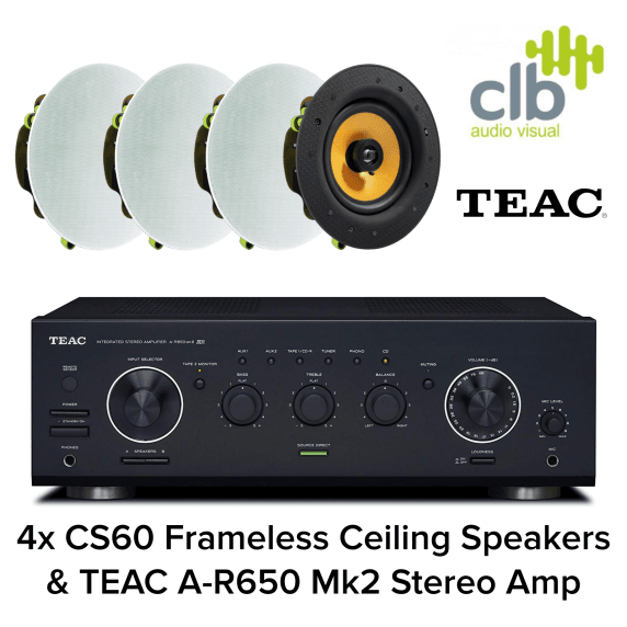 TEAC A-R650 Home Hi-Fi Sound System - 4x Ceiling Speakers