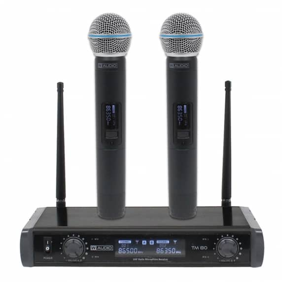 TM 80 Twin Handheld UHF System (863.0Mhz/864.0Mhz)