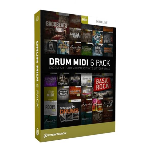 Toontrack Drum Midi 6 Pack (Boxed)