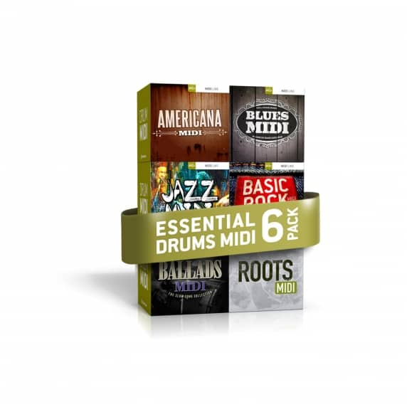 Toontrack Essential Drums MIDI 6 Pack (Serial Download)