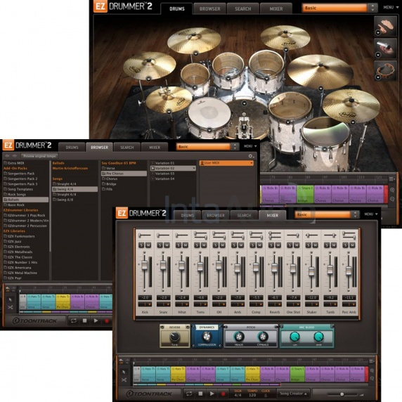 Toontrack EZ Drummer 2 Virtual Drum Software Upgrade (Serial Download)