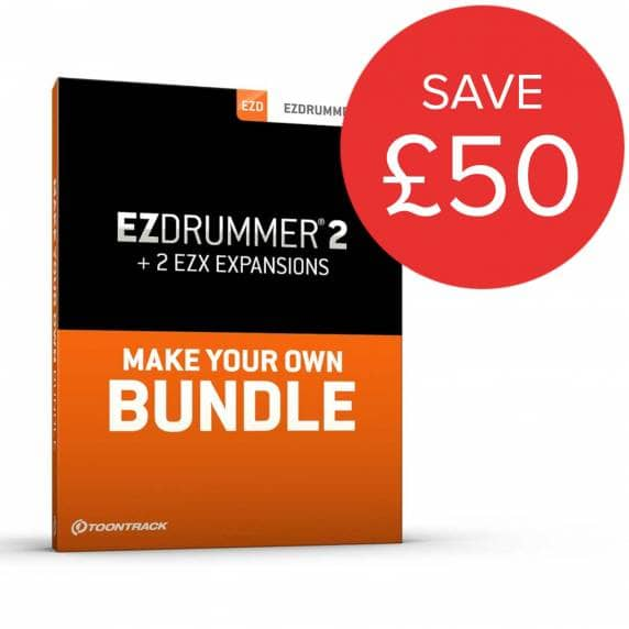 ToonTrack EZDrummer 2 + 2 EZX Expansions Of Choice Bundle (Boxed)