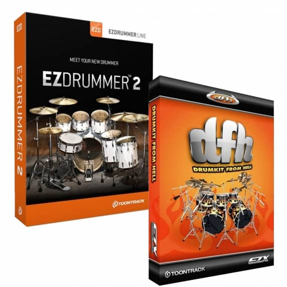 Toontrack EZdrummer 2 and Drum Kit from Hell Expansion (Serial Download)