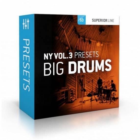 Toontrack NY Volume 3 Presets: Big Drums (Serial Download)