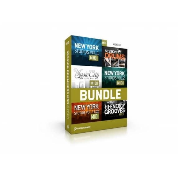 Toontrack Session Drummers MIDI 6 Pack (Serial Download)