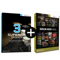 Toontrack Superior Drummer 3 + Drum Midi Pack of Choice (Serial Download)