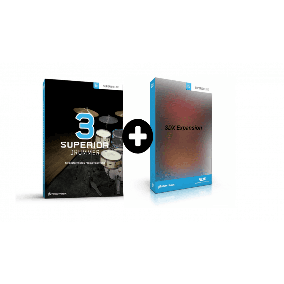 ToonTrack Superior Drummer 3 + SDX Expansion Pack of Choice (Serial Download)