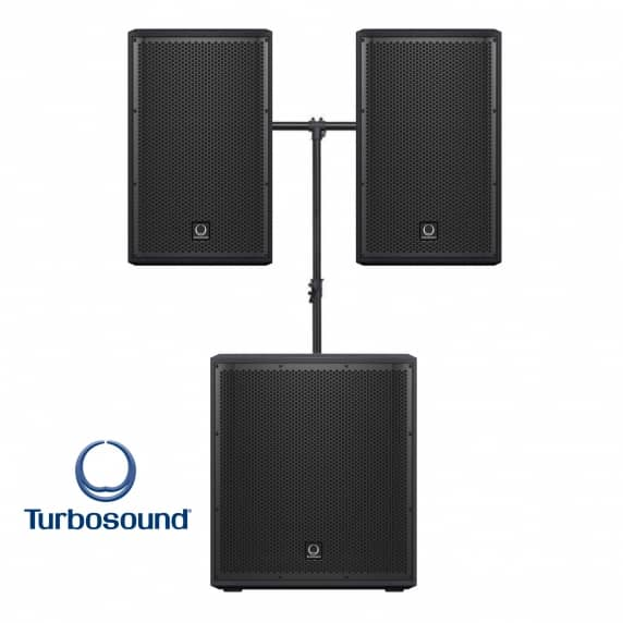 Turbosound Portable PA System with Bluetooth Bundle - 1000W
